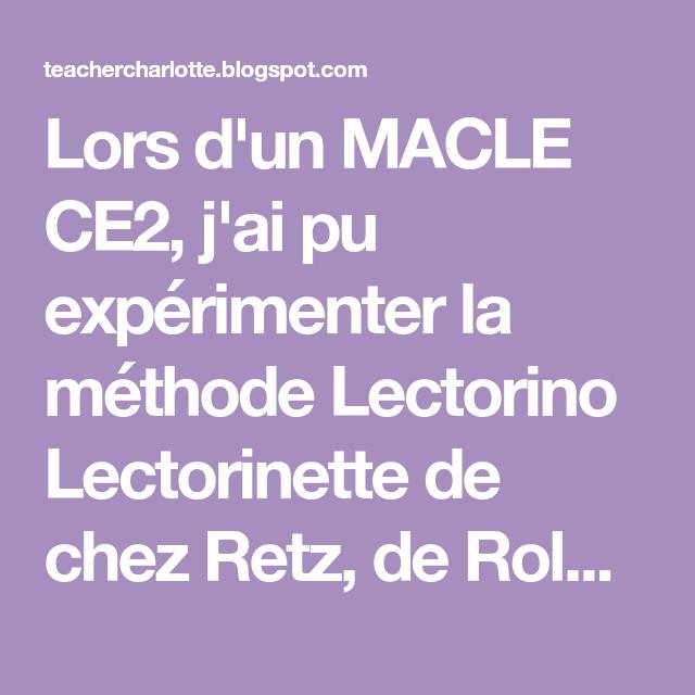 for whole family wholesale dealer outlet boutique Lors d'un MACLE CE2, j'ai pu expérimenter la méthode ...