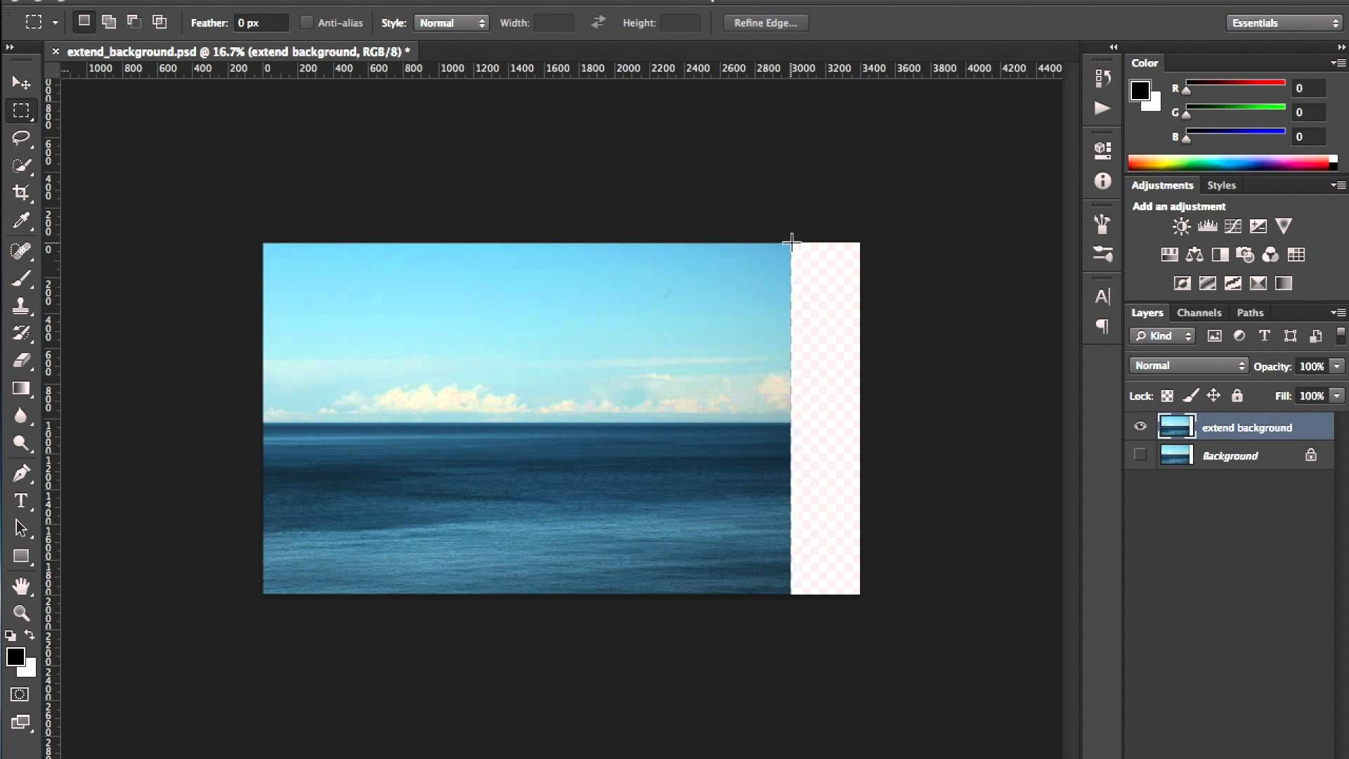 Extend an Image Content Aware Scale Tutorial