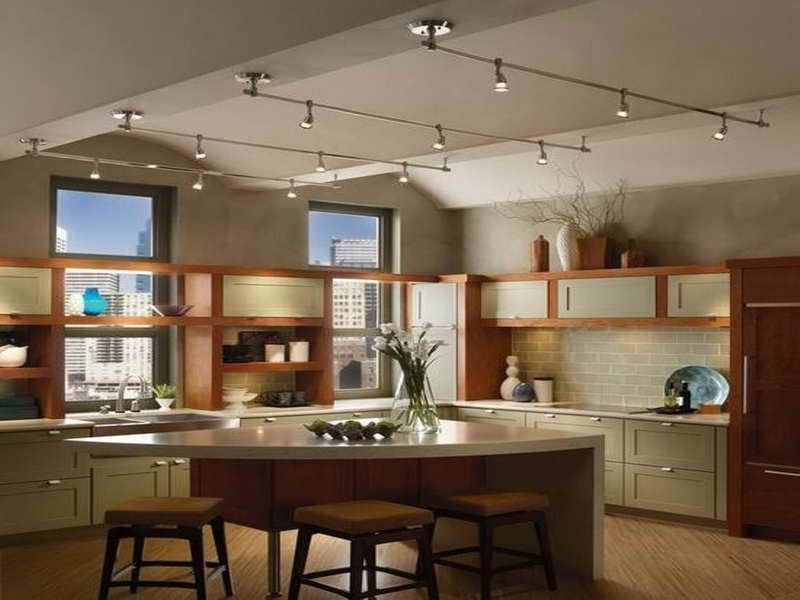interior amazing kitchen track lighting design ideas with aluminum material and small lamp feat unique - Lighting Ideas For Kitchen