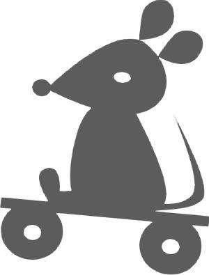 *good friends*, Maus, klein, grau, Velours-Motiv zum Aufbügeln