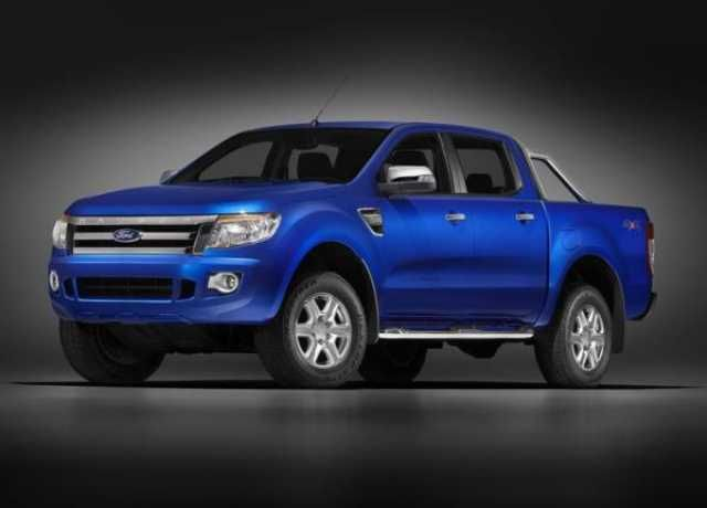 2017 Ford Ranger Blue Color Fornt View Pictures Ford Ranger