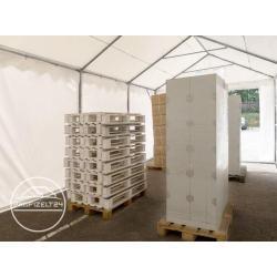 Photo of Lagerzelt 4×6 m – 2,6 m Seitenhöhe, Pvc 550 g/m², mit Bodenrahmen Unterstand, Lager Toolport