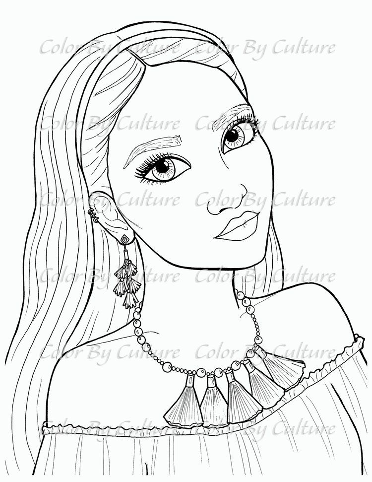 Summer Fashions Set Of 5 Color By Culture People Coloring Pages Coloring Pages Coloring Book Art