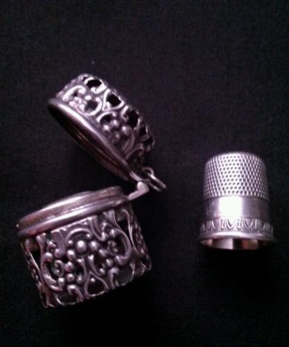 Thimble BUTTERFLY /& FLOWERS Solid Brass Metal Russian Souvenir Collection