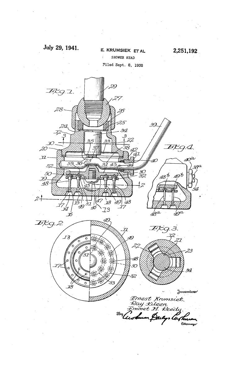 Shower Head Patent Drawings Pinterest