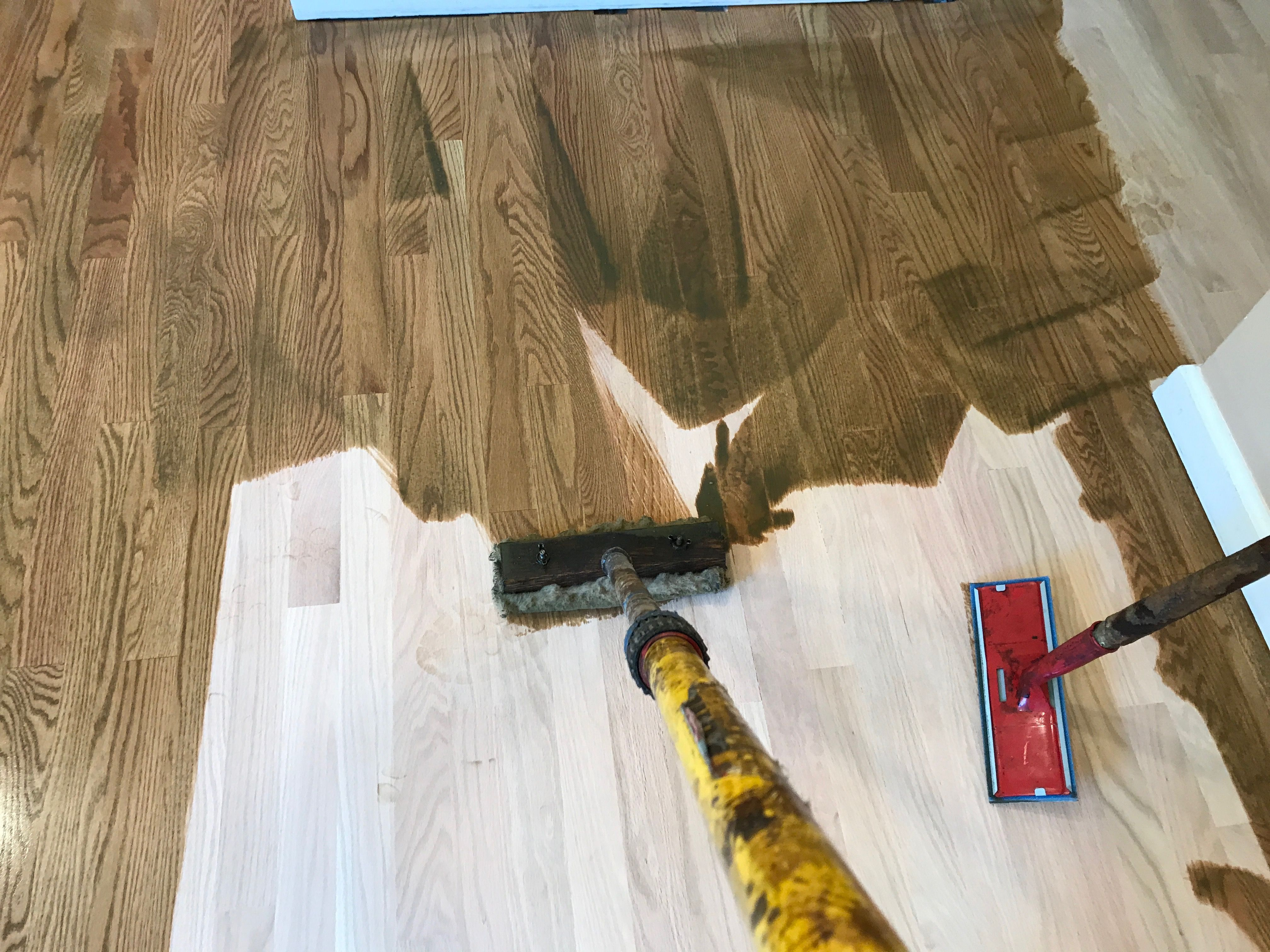 how to remove paint off hardwood floors