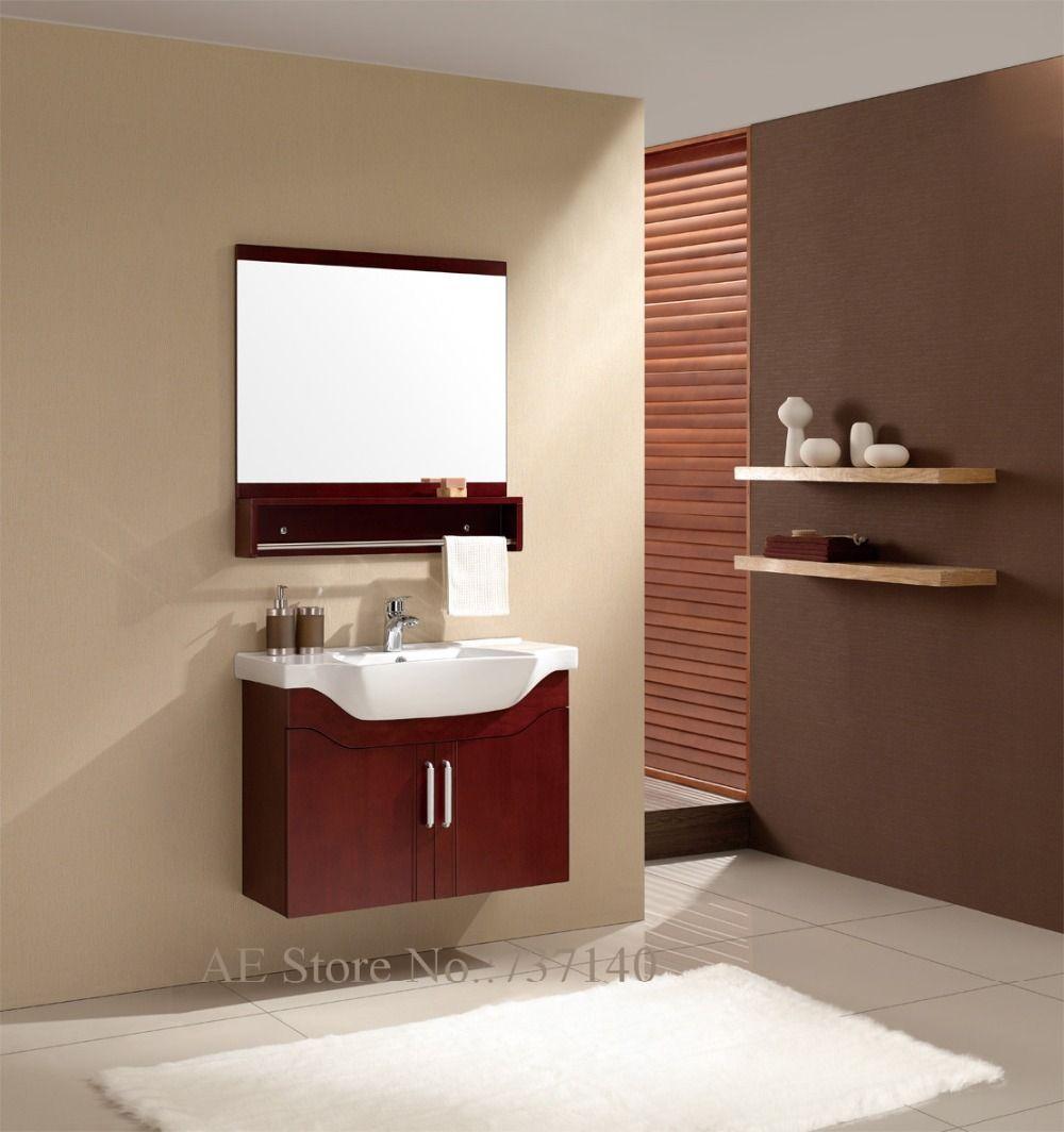Sanitaryware cabinet with basin simple modern furniture wallmounted