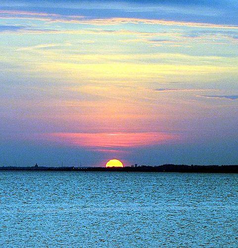 Sunset On The Chesapeake Bay Maryland Eastern Shore Ocean City Ocean City Maryland