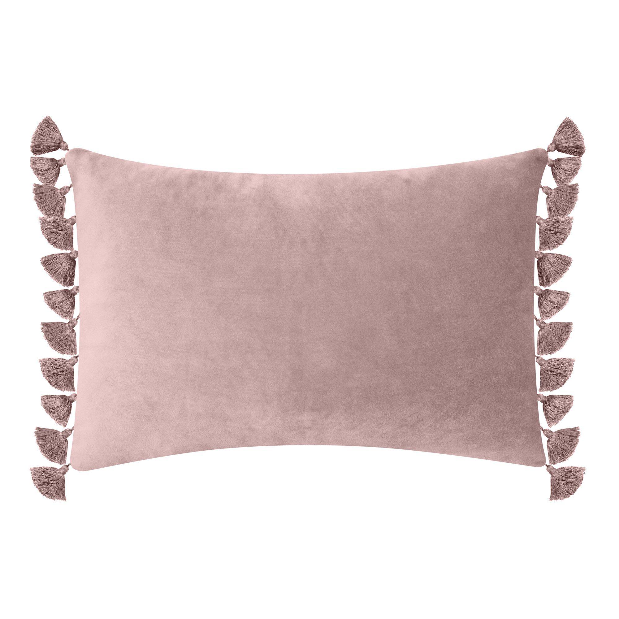Better Homes Gardens Feather Filled Tassled Velvet Oblong Decorative Throw Pillow 14 X 20 Sunset Walmart Com In 2020 Decorative Throw Pillows Throw Pillows Decorative Throws