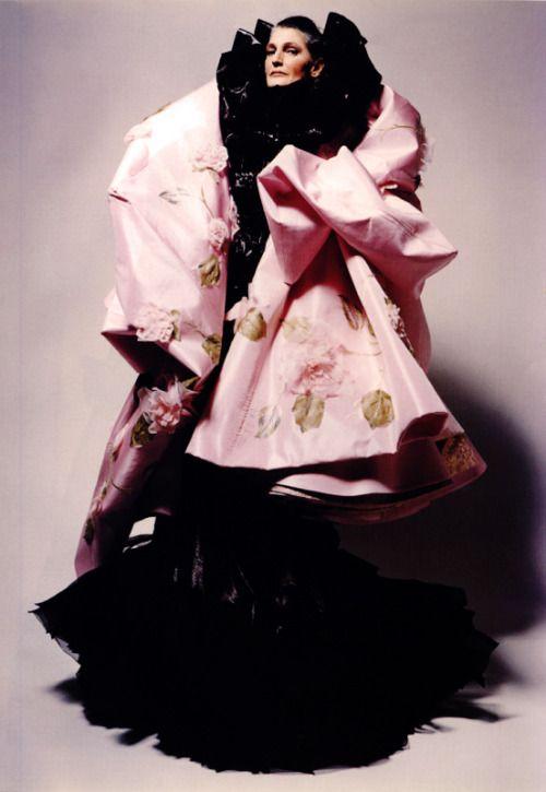 'The Elegence:Benedetta Barzini',Benedetta Barzini byPeter Lindbergh, Vogue Italia March 2003. Christian Dior Spring Summer 2003 Haute Couture