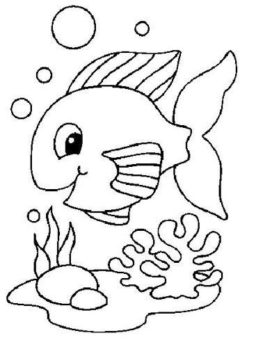 Colorear El Mar Manualidades Infantiles Con Imagenes Pez