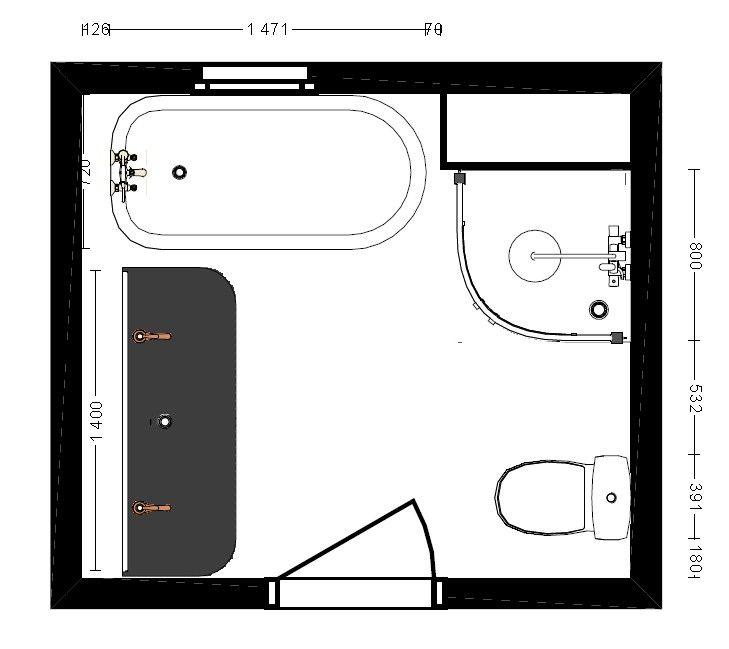 implantation 2d maison salle de bain et salle. Black Bedroom Furniture Sets. Home Design Ideas
