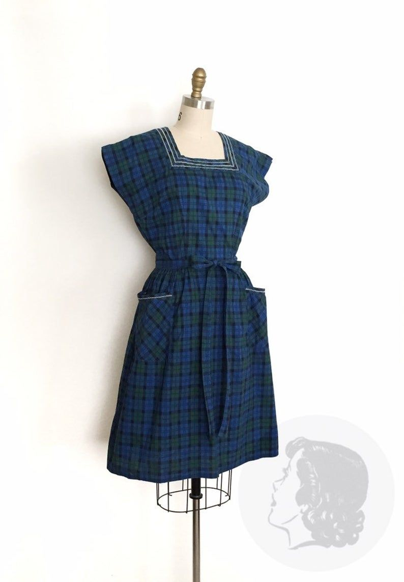 Reserved Vintage 1950s Dress 50s Plaid Cotton Swirl Wrap Etsy Vintage 1950s Dresses Wrap Around Dress Cotton Wrap Dress [ 1143 x 794 Pixel ]