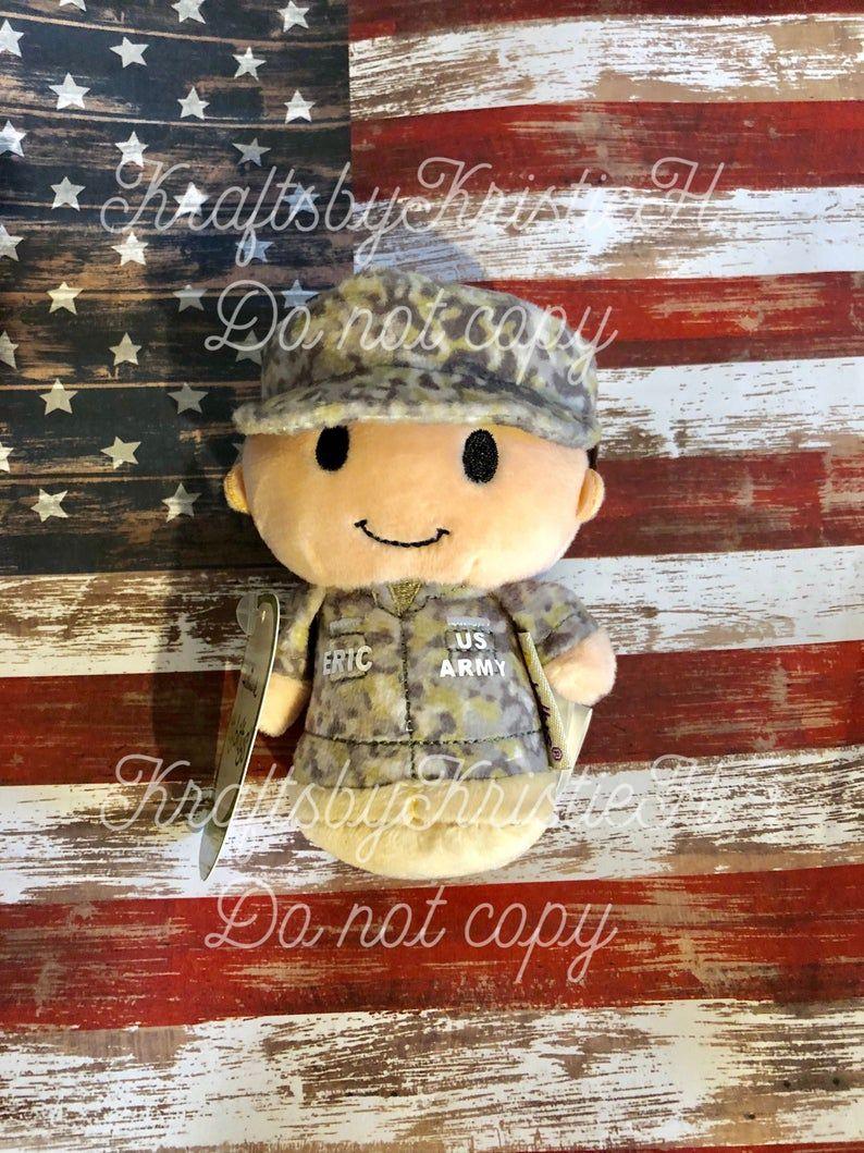 itty bitty, Army, US Army, Navy, Air Force, Marines, Coast Guard, National Guard, Boot Camp, Deployment, Military doll, Camo, personalized #boydollsincamo