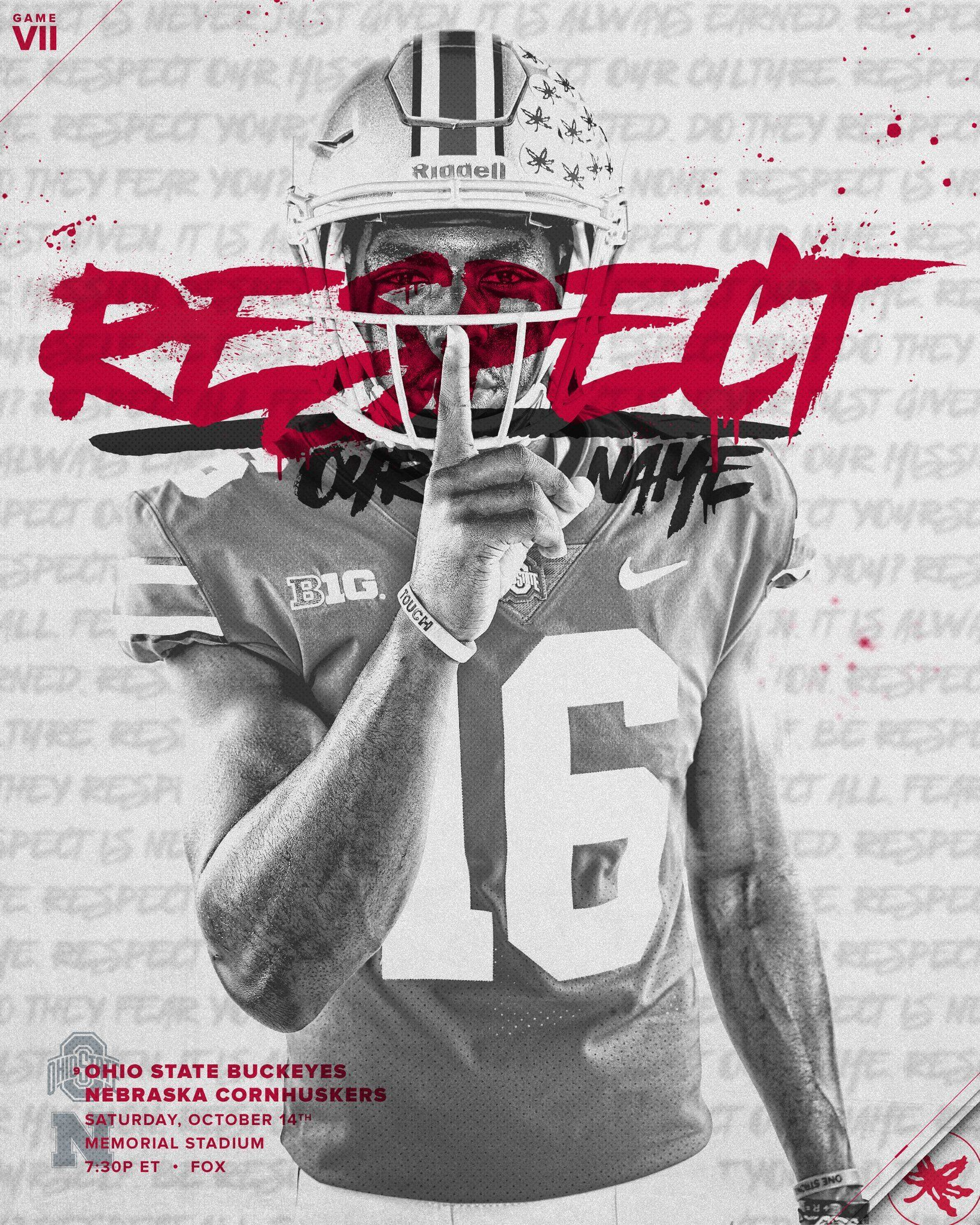 5 Twitter Iphonebackgrounds Ohio State Football Sports Graphic Design Football Poster