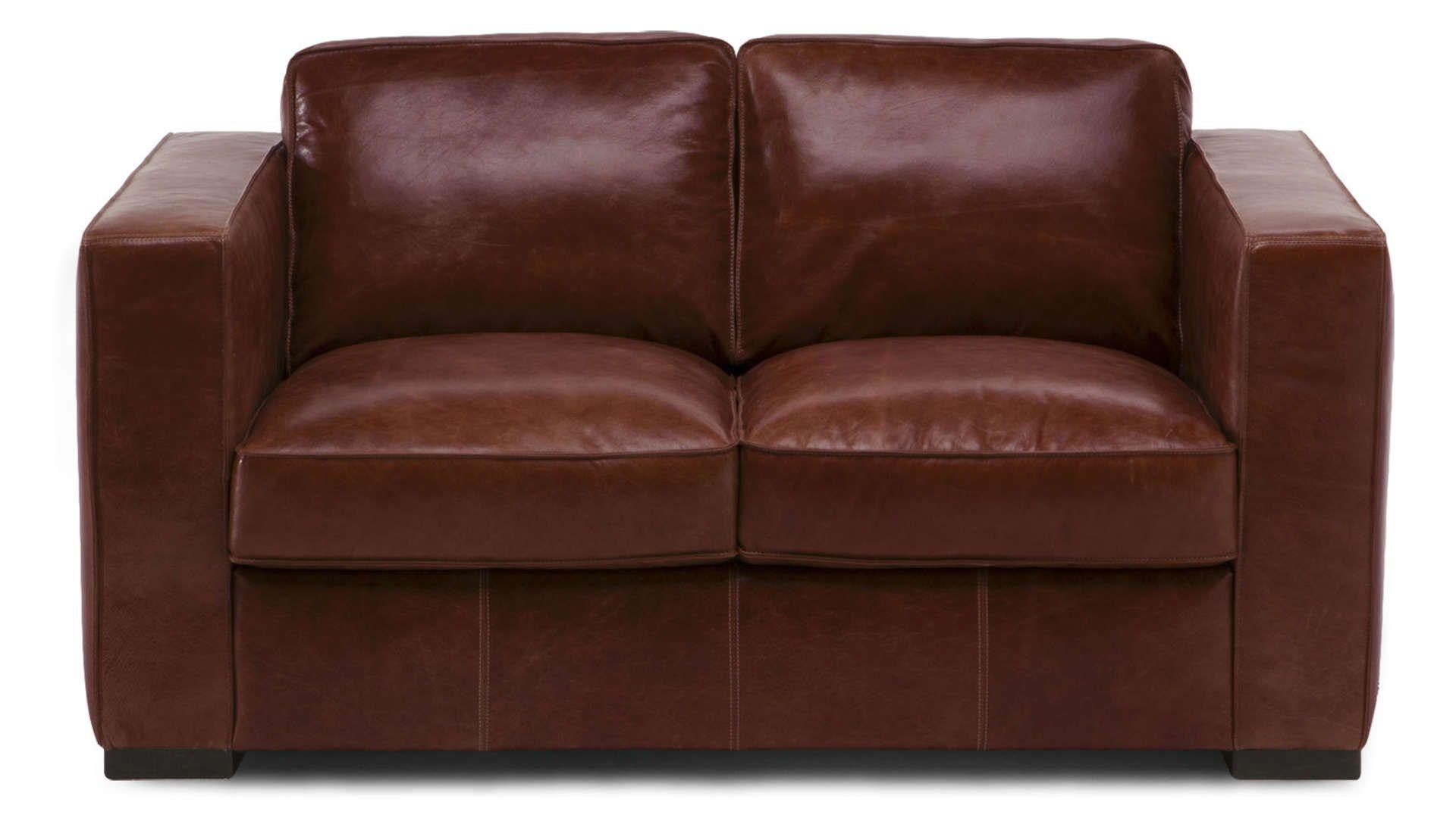 Canape Fixe 2 Places En Cuir Havane Coloris Rouge Vintage Canape Fixe Canape Fixe 2 Places Conforama