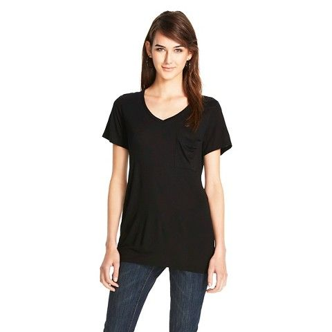 V-Neck MicroModal Tee with Pocket - Mossimo