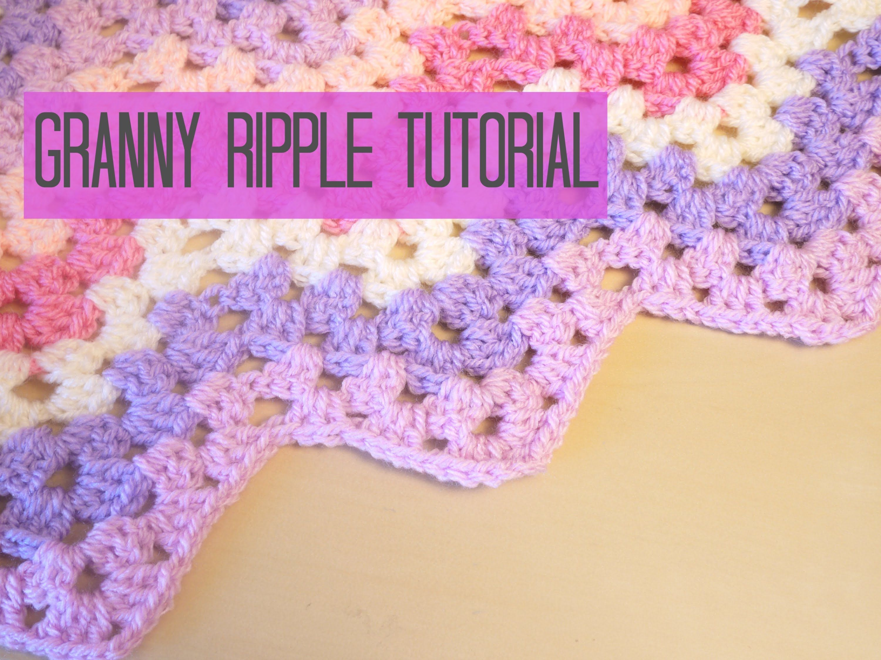 Easy Crochet Ripple Afghan Tutorial : Tutorial for the Granny Ripple/ Chevron blanket. In UK ...