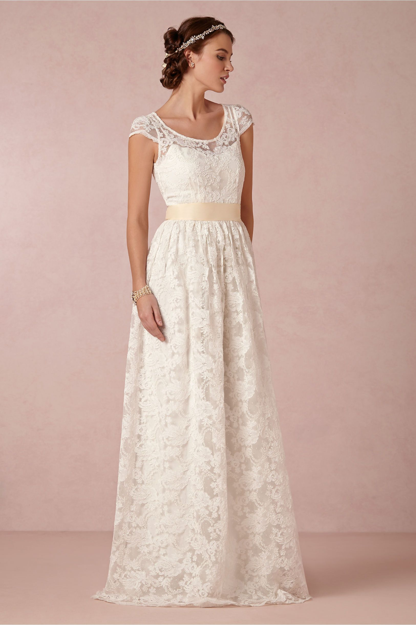 Ellie Gown in Bride Wedding Dresses Lace at BHLDN. $1395. http://www ...