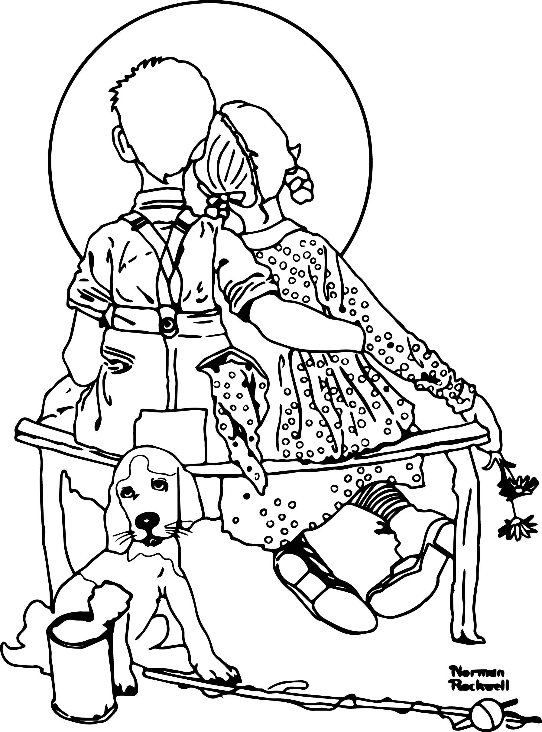norman rockwell coloring pages - photo#7