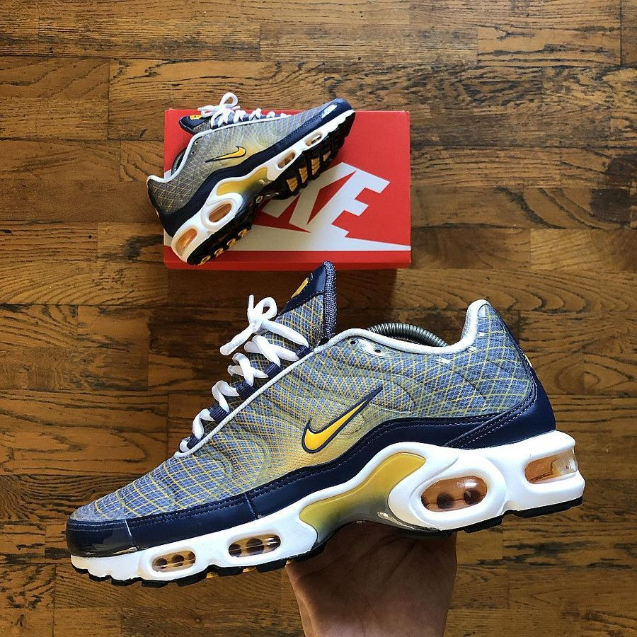 Nike Air Max Plus OG Grid 'Quads' Steel Spun Yellow (2019 ...