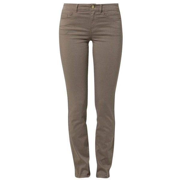 c0079fbad505 Esprit Slim fit jeans beige (€53) ❤ liked on Polyvore featuring pants
