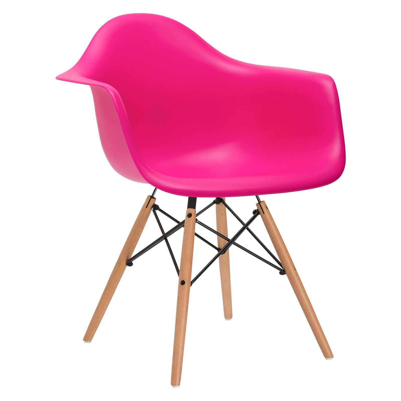 Vortex Arm Chair In Fuschia