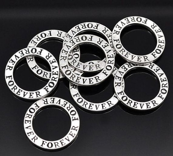 4 Forever Charms Antique Tibetan Silver Tone by BohemianFindings, $2.50