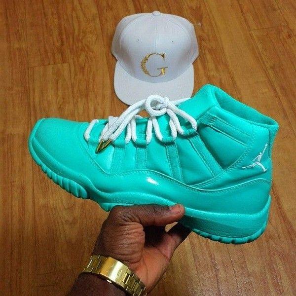 Custom Air Jordan 6s BlueWhite   Kicks   Pinterest ❤ liked
