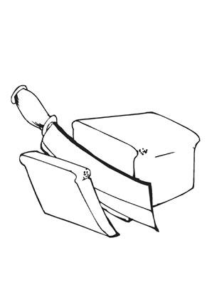 Ausmalbild Brot Ausmalen Ausdrucken Ausmalbild