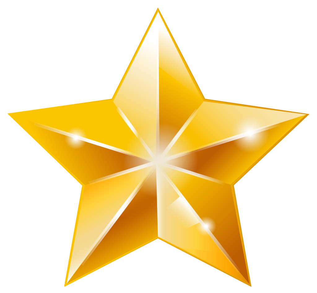 Golden Star PNG Image Star clipart, Golden star, Stars
