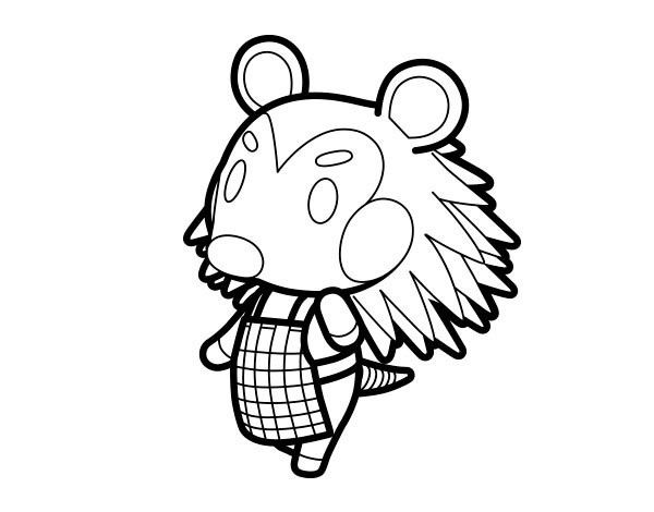 Animal Crossing Coloring Pages 4 Moon coloring pages