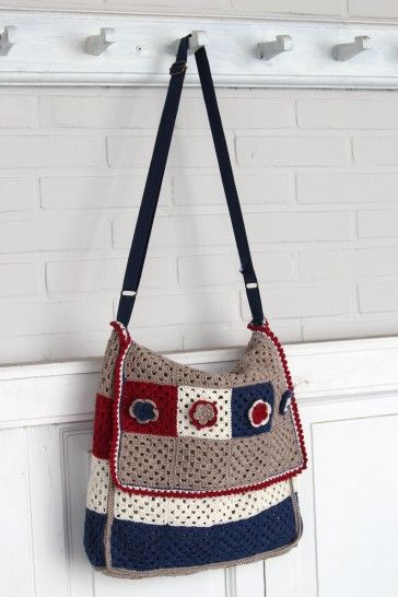 Free crochet pattern for messenger bag | häkelanleitung | Pinterest ...