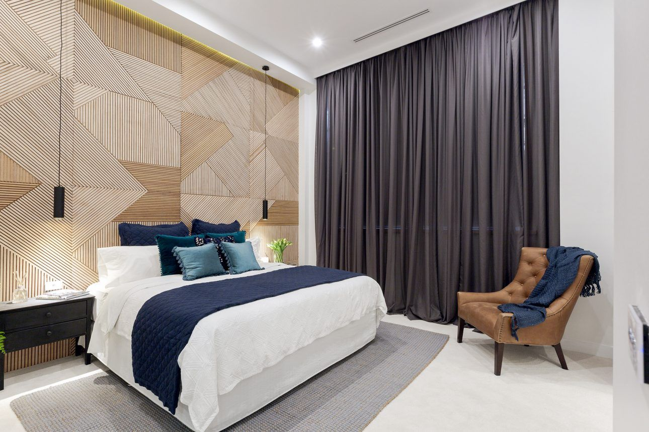 Will And Karlie The Block 2016 Master Bedroom Featuring The Most Beautiful Custom Timber Feature