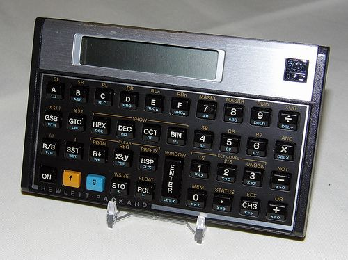 Vintage Hewlett Packard Model Hp 16c Progammable Rpn Calculator The Only Programmer S Calculator Ever Produced By Hp Circa 1988 Calculator Old Computers Computer History