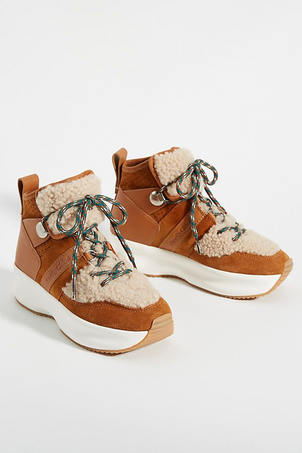 See by Chloe Cozy High-Top Sneakers By in Yellow Size: 39, at Anthropologie #seebychloe