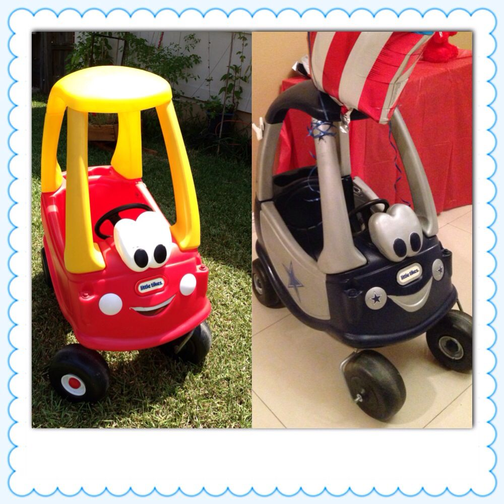 Little tikes coupe to sporty Dallas Cowboys wheels! Cool