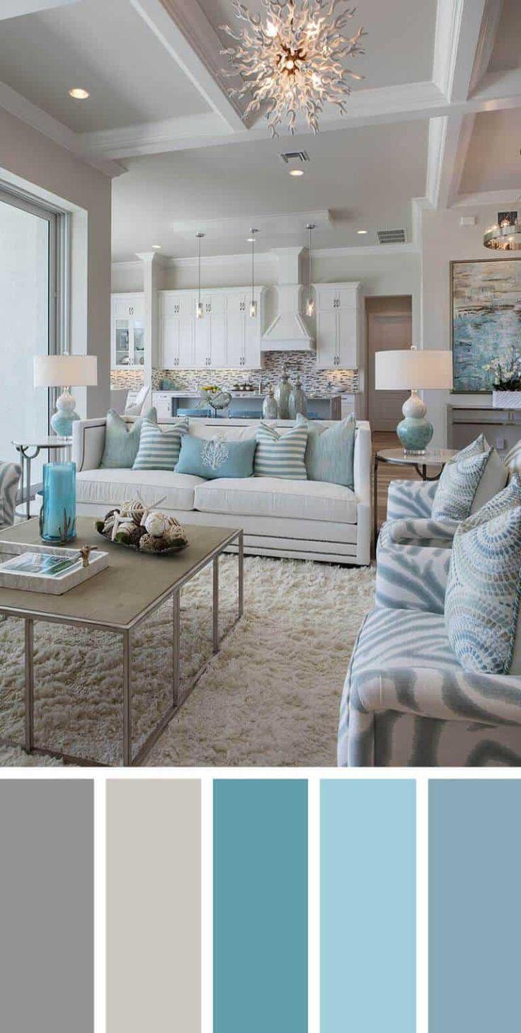 7 diferentes paletas de colores para una impresionante decoración de la sala de estar - -