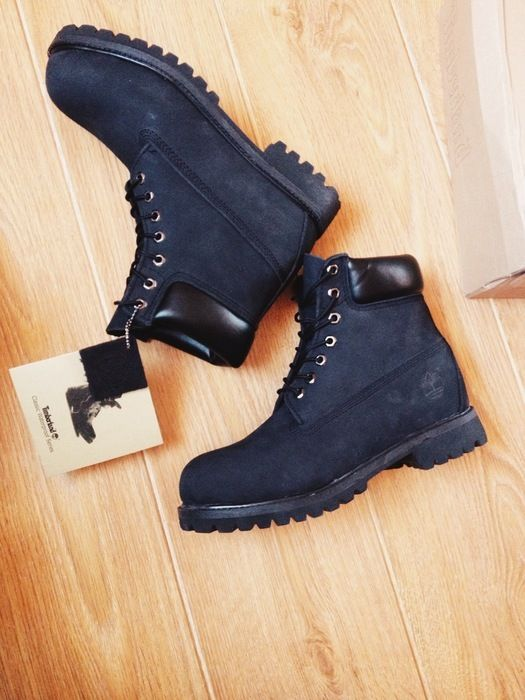 2643bc40ab Timberland noir cuir swag hipsta fashion boots chris brown - vinted.fr  Chaussures Noires,