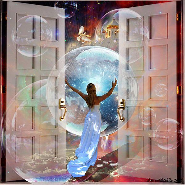 Delores DeVelde Art ~ When Heaven invades Earth ~ So Lovely! | Prophetic art, Art, Spiritual art