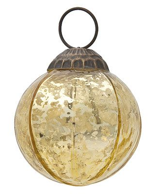 Small gold ball mercury glass ornament j j pinterest for Small gold christmas ornaments
