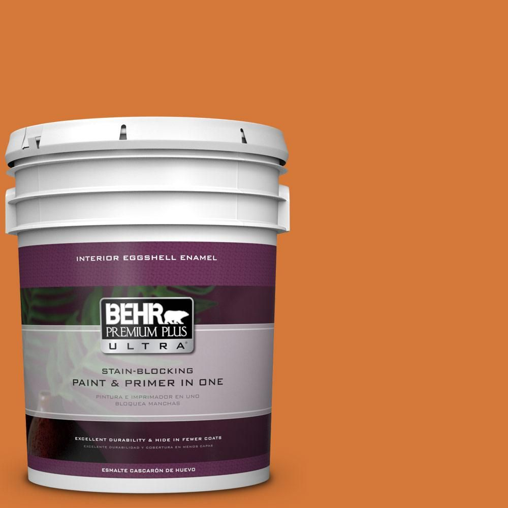 BEHR Premium Plus Ultra 5 gal. #T17-19 Fired Up Eggshell Enamel Interior Paint