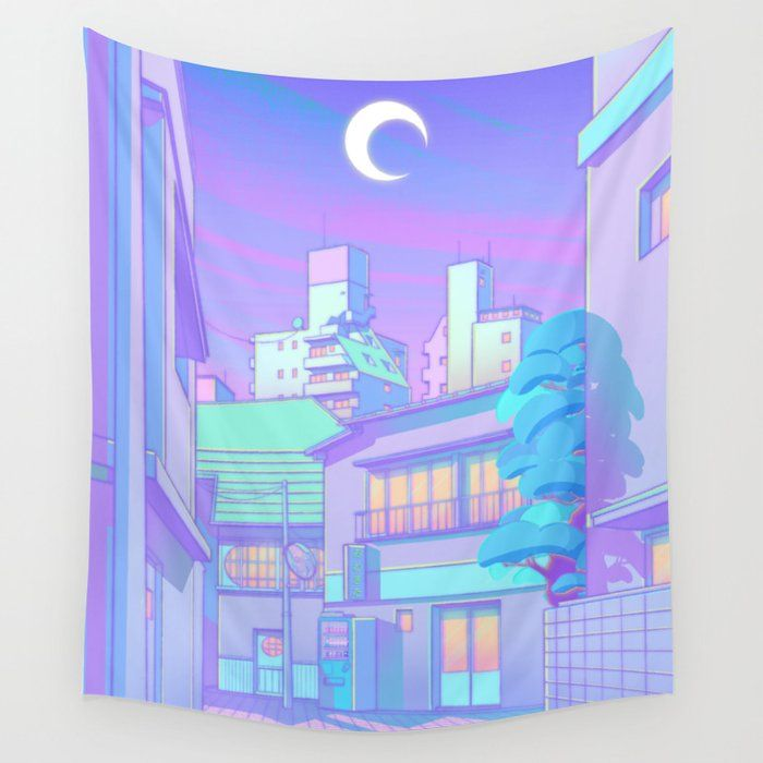 Night In Utopia Wall Hanging Tapestry by Elora Pautrat - 51