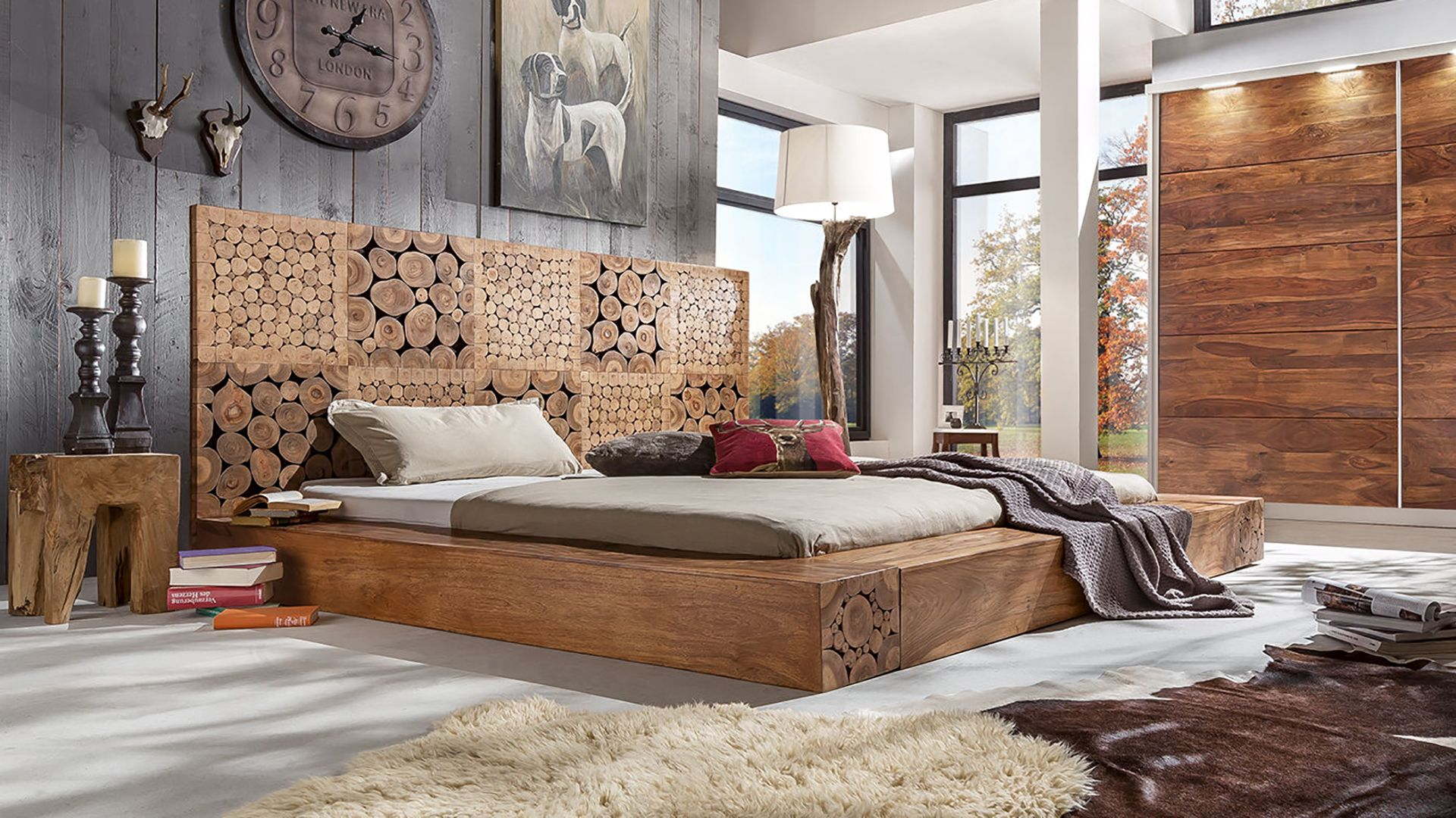 Solid Wood INDIANA WoodLog Bed | Latest Trends & Design in ...