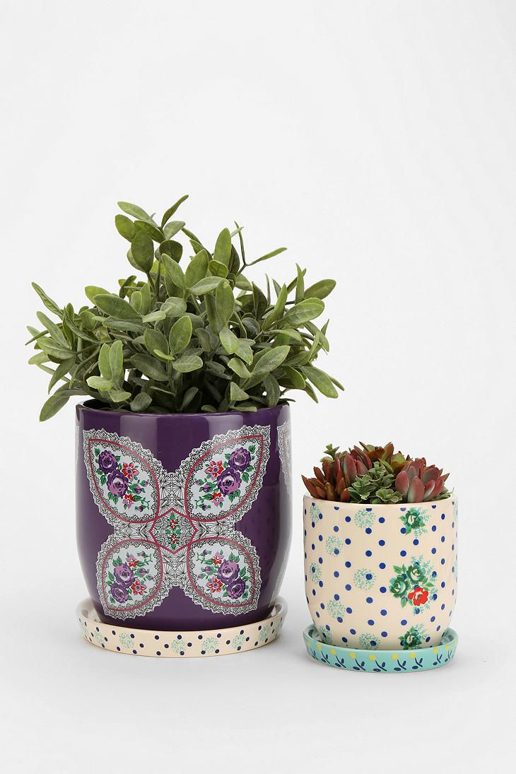 Plum & Bow Floral Pattern Planter. I want my small space to be AWESOME. I entered the #UrbanOutfitters Pin A Room, Win A Room Sweepstakes! #smallspace