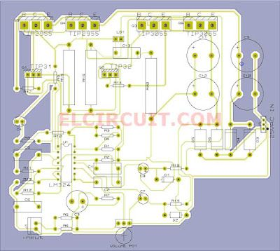 Subwoofer Home Theater Layout PCB