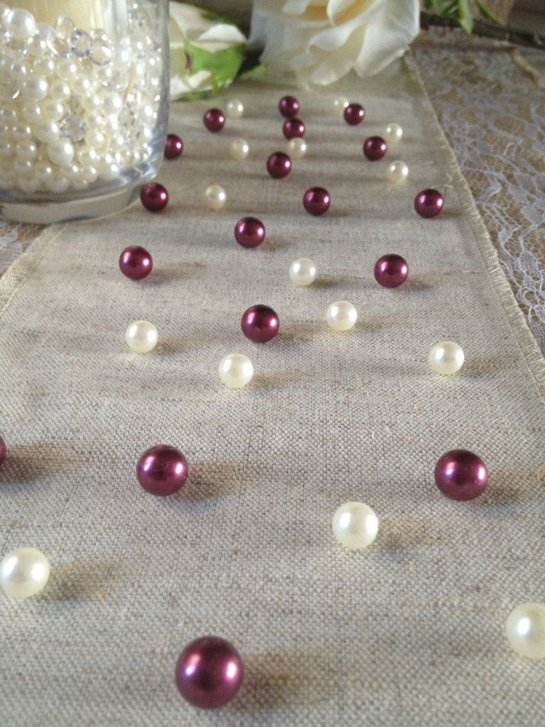 Vintage Table Pearl Ters Burgundy And Ivory Pearls For Wedding Parties Special Events Decor