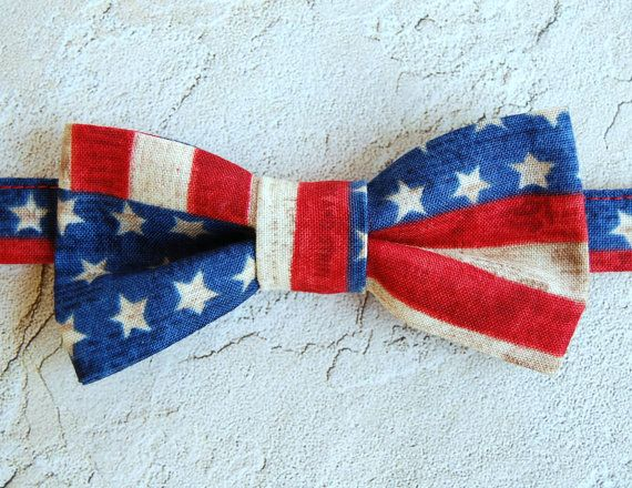 Mens American Flag Bow Tie Cotton Stars And Stripes Bowtie Men S Bow Tie Patriotic Bow Ties American Flag Bow Flag Bow Tie Kids Bow Ties