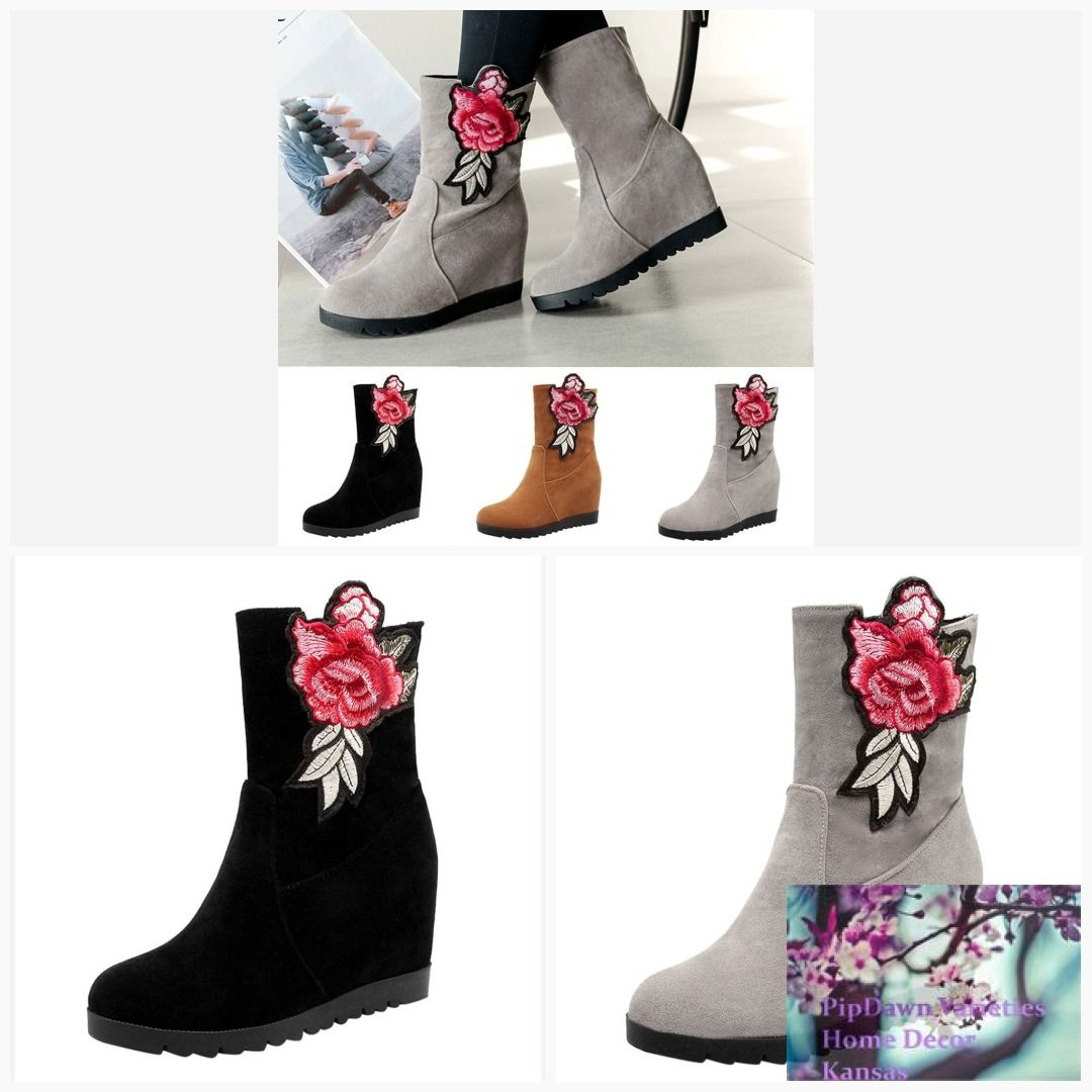 f860f687647 Women s Boots Retro Rose design  pipdawn  decorating  latest  products  home