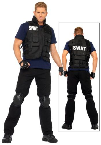 Plus Mens SWAT Team Costume #Halloween #Costumes Makeup Wigs Masks ...
